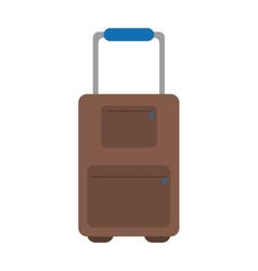 Suitcase luggage travel handle vector