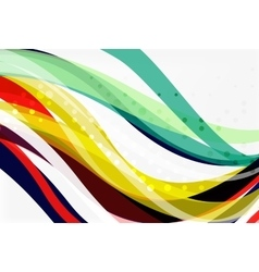 Geometric flowing lines abstract background vector