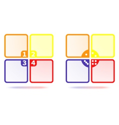 Set of Colorful Four Options Template vector image