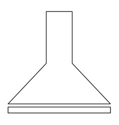 Exhaust hood the black color icon vector