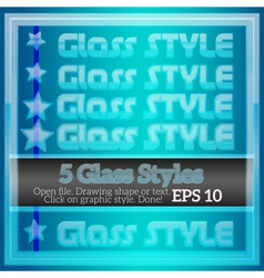 Set of transparent glass graphic styles for design vector