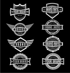 Vintage brand label badges vector