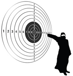 Target with man vector