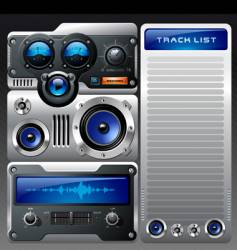 Analog mp3 player vector
