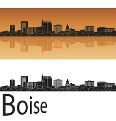 Boise skyline in orange vector