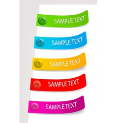 color tags vector image