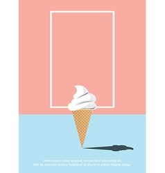 Abstract ice cream vector