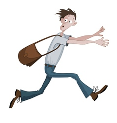 Scared cartoon man vector image