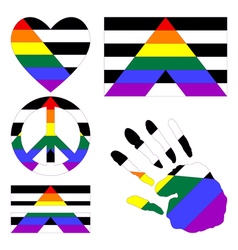 Straight allies pride design elements vector