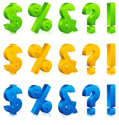 Question exclamation percent and dollar signs vector