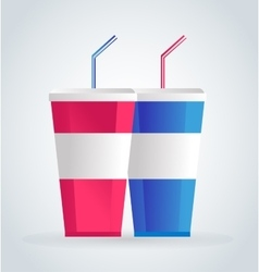 Fast food drinks pack set vector