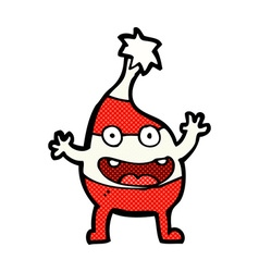 Comic cartoon funny christmas creature vector
