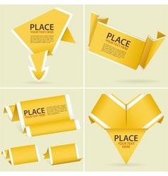 origami banner element vector image