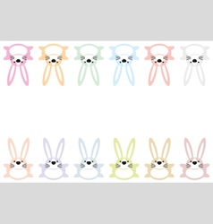Set of twelve colorful easter bunnies 3 vector