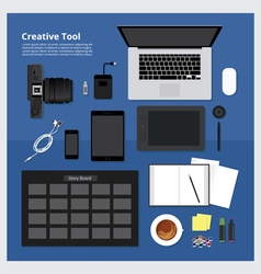 Flat design creative tool vector