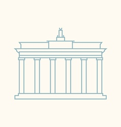 Brandenburg Gate Berlin vector image