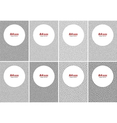 Set of halftone dot backgrounds a4 size vector