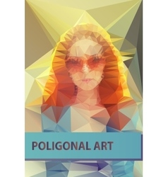 Abstract polygonal face triangles portrait for vector