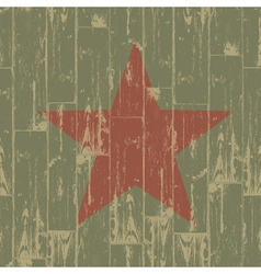Aged red star symbol vector