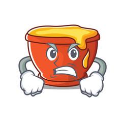 Angry honey character cartoon style vector