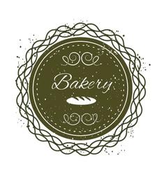 Bakery grunge badge label vector