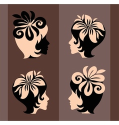 beautiful art silhouette vector image