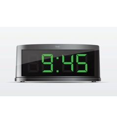 Black digital alarm clock vector image
