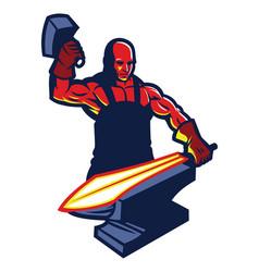 blacksmith mascot vector image vector image