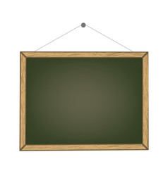 Blank old chalkboard with wooden frame vector