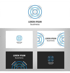 Business logo Round icon vector image