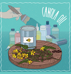 Canola oil used for paint manufacture vector