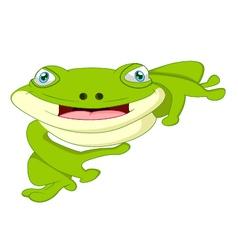 Cartoon cute frog vector