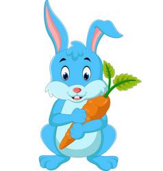 cartoon happy rabbit vector image