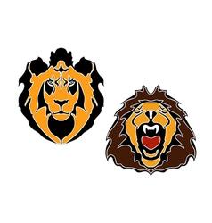 Cartoon lions head vector image vector image