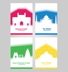 collection of colorful posters with white vector image vector image
