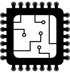 computer processor icon vector image