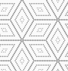 Gray dotted cubes vector image