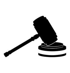 Hammer of justice law vector