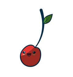 kawaii fruits icon vector image