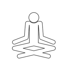 Man yoga stick black color icon vector