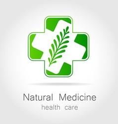 natural medicine logo vector image