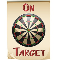 On target text and concept vector image vector image