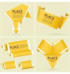 origami banner element vector image vector image