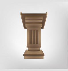 podium tribune rostrum microphone speaker vector image