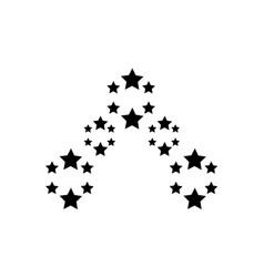 star on white background style vector image