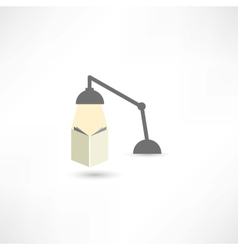 Study with a lamp vector
