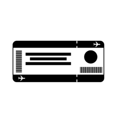 Ticket fly isolated icon vector