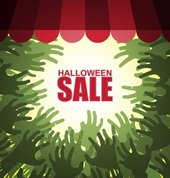 Zombie crowd halloween sale vector