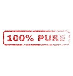 100 percent pure rubber stamp vector image
