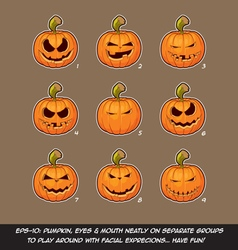 Jack o lantern cartoon 9 mean n naughty vector